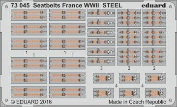 Seatbelts France WWII STEEL · EDU 73045 ·  Eduard · 1:72