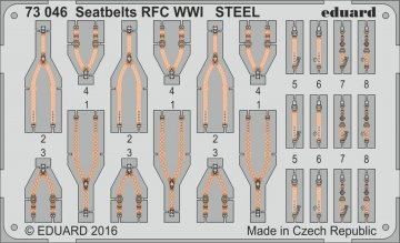 Seatbelts RFC WWI STEEL · EDU 73046 ·  Eduard · 1:72