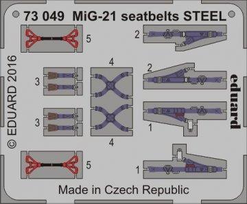 MiG-21 - Seatbelts STEEL · EDU 73049 ·  Eduard · 1:72