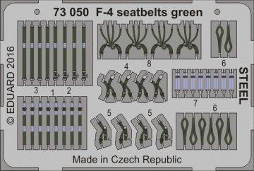 F-4 - Seatbelts green STEEL · EDU 73050 ·  Eduard · 1:72
