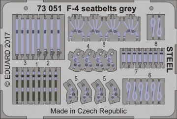 F-4 - Seatbelts grey STEEL · EDU 73051 ·  Eduard · 1:72