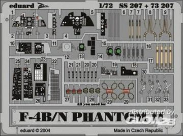 F-4B/N Phantom II · EDU 73207 ·  Eduard · 1:72
