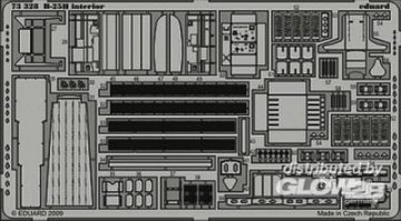 B-25H - Interior S.A. [Hasegawa] · EDU 73328 ·  Eduard · 1:72