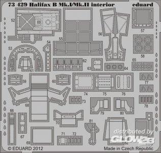 Halifax B MK.I/Mk.II interior S.A.f.Reve · EDU 73429 ·  Eduard · 1:72