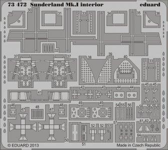 Sunderland Mk.I - Interior S.A. [Italeri] · EDU 73472 ·  Eduard · 1:72