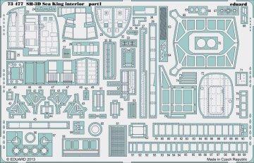 SH-3D Sea King - Interior S.A. [Dragon-Cyberhobby] · EDU 73477 ·  Eduard · 1:72
