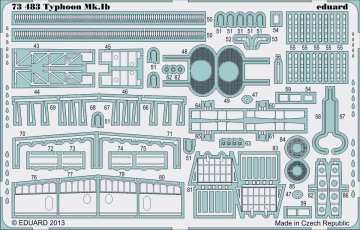 Hawker Typhoon Mk.IB S.A. [Airfix] · EDU 73483 ·  Eduard · 1:72