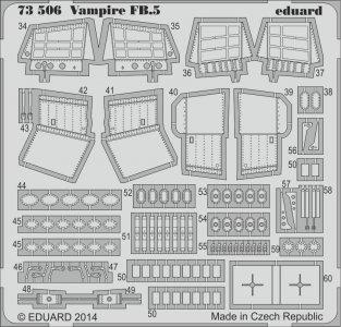 Vampire FB.5 S.A: [Azur] · EDU 73506 ·  Eduard · 1:72
