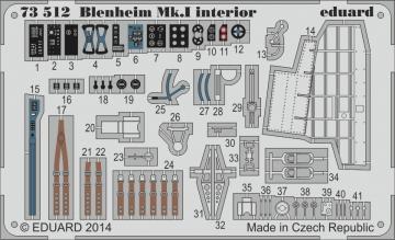 Bristol Blenheim Mkl interior S.A. [Aifrix] · EDU 73512 ·  Eduard · 1:72