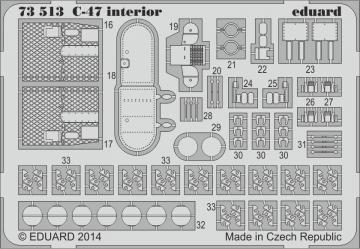 Douglas C-47 A/D Skytrain inerior S.A. [Airfix] · EDU 73513 ·  Eduard · 1:72