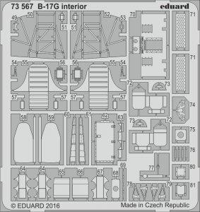 Boeing B-17G Flying Fortress -Cockpit - Interior [Airfix] · EDU 73567 ·  Eduard · 1:72