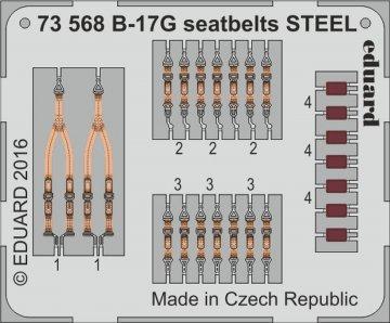 Boeing B-17G Flying Fortress - Seatbelts STEEL [Airfix] · EDU 73568 ·  Eduard · 1:72