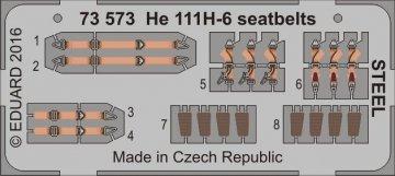 Heinkel He 111 H6 - Seatbelts STEEL [Airfix] · EDU 73573 ·  Eduard · 1:72