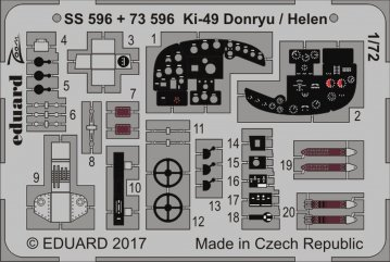 Nakajima KI 49II Koh, Type 100, Helen [Hasegawa] · EDU 73596 ·  Eduard · 1:72