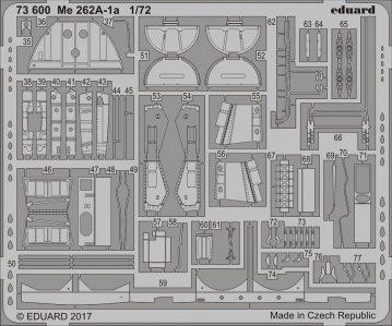 Messerschmitt Me 262A-1a [Airfix] · EDU 73600 ·  Eduard · 1:72