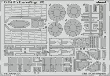 P1Y Frances/Ginga [Hasegawa] · EDU 73610 ·  Eduard · 1:72