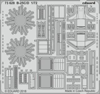 North American B25C/D Mitchell [Airfix] · EDU 73628 ·  Eduard · 1:72