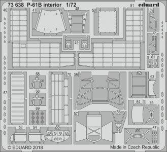 US P-61B Black Widow - Interior [HobbyBoss] · EDU 73638 ·  Eduard · 1:72