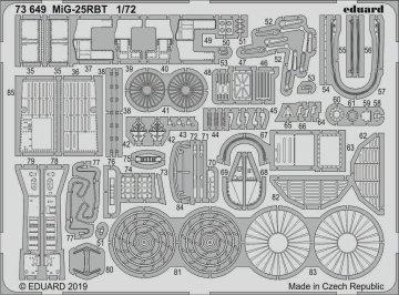 MiG-25RBT [ICM] · EDU 73649 ·  Eduard · 1:72
