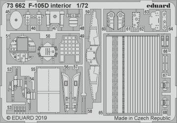 F-105D Thunderchief - Interior [Trumpeter] · EDU 73662 ·  Eduard · 1:72