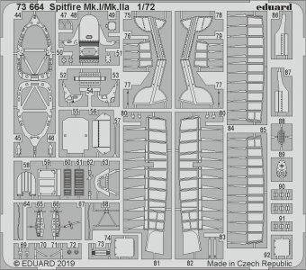 Spitfire Mk.I/Mk.IIa [Airfix] · EDU 73664 ·  Eduard · 1:72