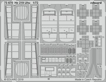 Heinkel He 219 Uhu [Dragon] · EDU 73670 ·  Eduard · 1:72