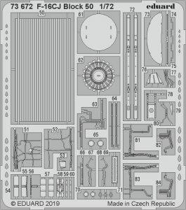 F-16CJ Block 50 [Tamiya] · EDU 73672 ·  Eduard · 1:72