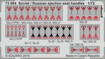 Soviet / Russian ejection seat handles · EDU 73684 ·  Eduard · 1:72