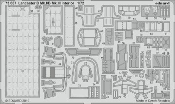 Lancaster B Mk.I/B Mk.III - Interior [Airfix] · EDU 73687 ·  Eduard · 1:72