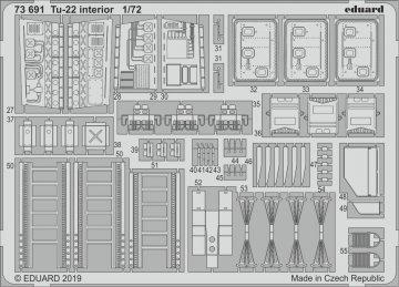 Tu-22 - Interior [Trumpeter] · EDU 73691 ·  Eduard · 1:72