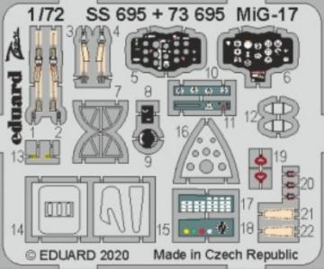 MiG-17 [Airfix] · EDU 73695 ·  Eduard · 1:72