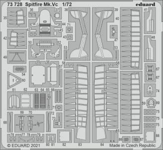 Spitfire Mk.Vc [Airfix] · EDU 73728 ·  Eduard · 1:72