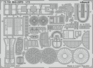 MiG-25PD [ICM] · EDU 73738 ·  Eduard · 1:72