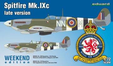 Spitfire Mk.IXc late version - Weekend Edition · EDU 7431 ·  Eduard · 1:72