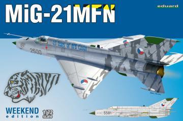 MiG-21MFN -  Weekend Edition · EDU 7452 ·  Eduard · 1:72