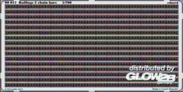 Railings 2 chain bars · EDU 99017 ·  Eduard · 1:700