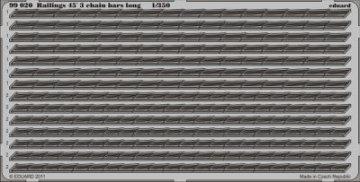 Railings 45´3 chain bars long · EDU 99020 ·  Eduard · 1:350