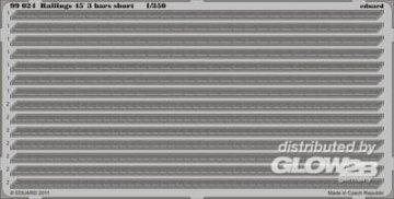 Railings 45 3 bars short · EDU 99024 ·  Eduard · 1:350