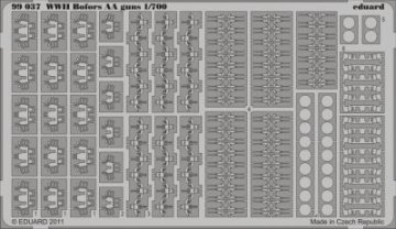 WWII Bofors AA guns · EDU 99037 ·  Eduard · 1:700