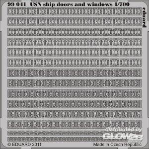 USN ship doors and windows · EDU 99041 ·  Eduard · 1:700