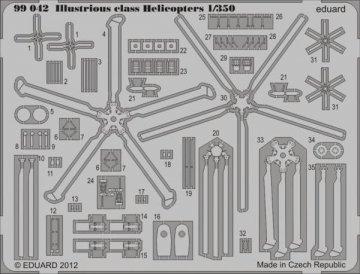 Illustrious class Helicopters · EDU 99042 ·  Eduard · 1:350