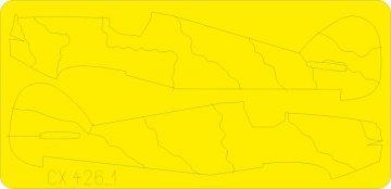 Hurricane camo scheme B · EDU CX426 ·  Eduard · 1:72