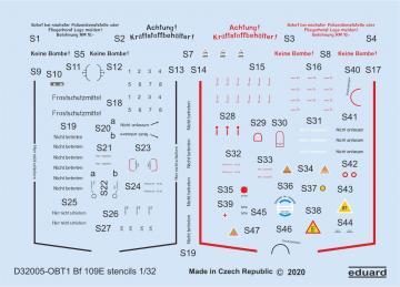 Messerschmitt Bf 109E - Stencils [Eduard] · EDU D32005 ·  Eduard · 1:32
