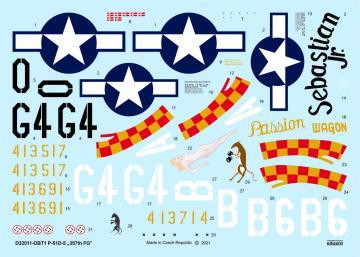 P-51D-5 357th FG [Tamiya] · EDU D32011 ·  Eduard · 1:32