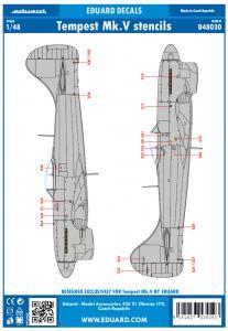 Hawker Tempest Mk.V - Stencils [Eduard] · EDU D48030 ·  Eduard · 1:48