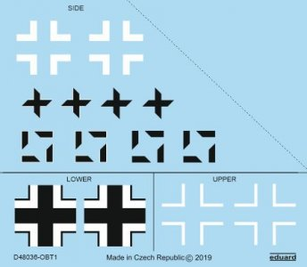 Focke Wulf Fw 190A-8/R2 - National insignia [Eduard] · EDU D48036 ·  Eduard · 1:48
