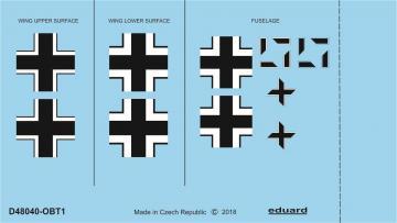 Focke Wulf Fw 190 A-2 - National insignia [Eduard] · EDU D48040 ·  Eduard · 1:48