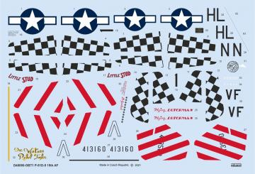 P-51D-5 15th AF - Stencils [Eduard] · EDU D48080 ·  Eduard · 1:48