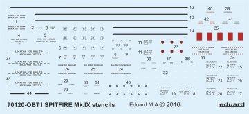 Spitfire Mk.IX - Stencils [Eduard] · EDU D72008 ·  Eduard · 1:72