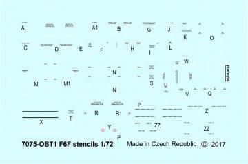 F6F - Stencils · EDU D72014 ·  Eduard · 1:72